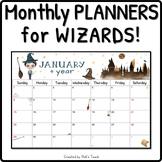 Wizard monthly calendar 2018-2019 - PRINTABLE version - Planner - Back to school