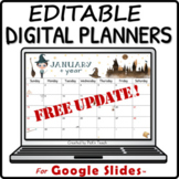 Wizard monthly calendar 2018-2019 - EDITABLE - Planner - B