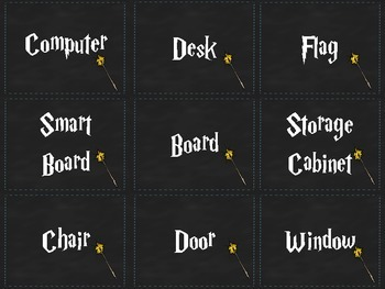 Harry Potter ELL Classroom Labels