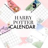 Harry Potter Editable Calendar for Planners
