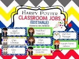 Harry Potter Editable Classroom Jobs