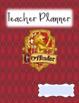 Harry Potter Editable Teacher Planner and Grade Book - 4 Cover designs