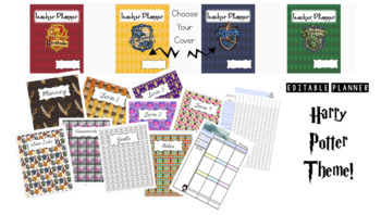Harry Potter Themed Editable Teacher Planner & Grade Book- 4 Cover designs (AUS)