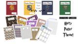 Harry Potter Themed Editable Teacher Planner Grade Book -