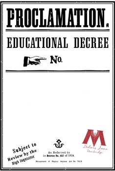 Educational decree template from the harry potter film series. A.