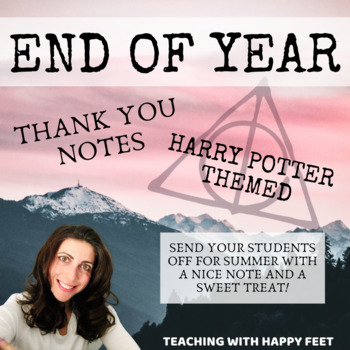 Harry Potter End of Year Thank You Cards