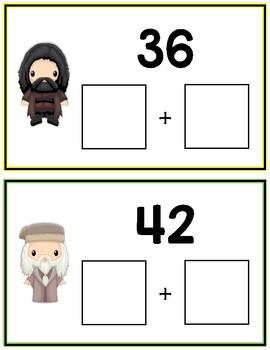 Harry Potter Expanded Form Math File Folder Game Place Value Tens & Ones