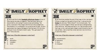 Harry Potter Figurative Language Task Cards