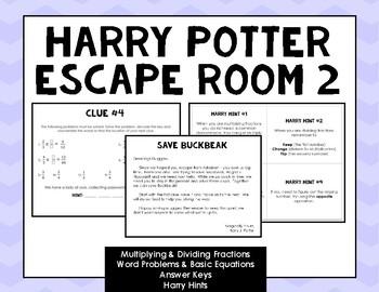 Harry Potter Fractions Escape Room 2