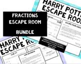 Harry Potter Fractions Escape Room - BUNDLE