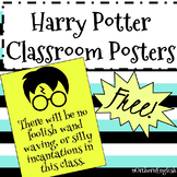 Harry Potter Free Classroom Posters