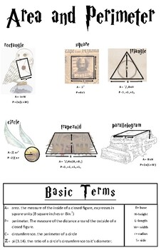 Harry Potter Geometry Poster
