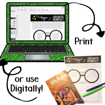 Harry Potter Growth Mindset Posters: Evidence-based Posters and Activity