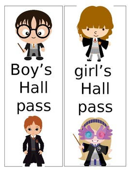 Harry Potter Hall Passes