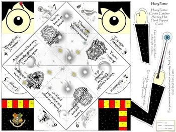 Harry Potter Hand Puppet/Cootie Catcher Game