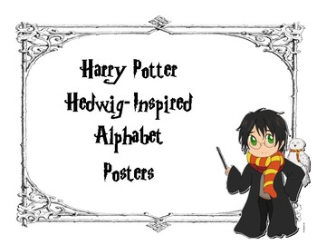 Harry Potter Hedwig Inspired Alphabet Posters