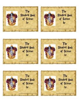 Harry Potter Hogwarts Gryffindor House Inspired Journal Labels