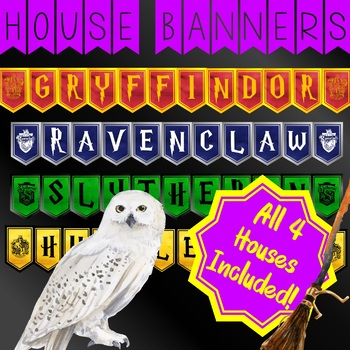 image about Harry Potter House Banners Printable titled Harry Potter Hogwarts Household Banners Posters
