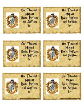Harry Potter Hogwarts Hufflepuff House Inspired Journal Labels