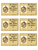 Harry Potter Hogwarts Hufflepuff House Inspired Journal Labels