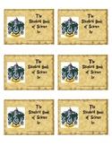 Harry Potter Hogwarts Slytherin House Inspired Journal Labels
