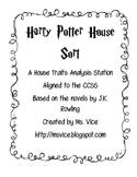 Harry Potter House Characteristics Sort