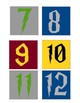 Harry Potter House Color Numbers