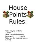 Harry Potter House Points
