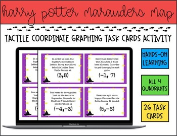 Harry Potter Human Coordinate Graphing Task Cards (Kinesthetic Learning)