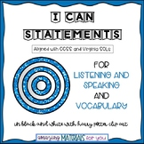 "Harry Potter ""I Can"" Statements for Listening and Speaking and Vocabulary_B&W"