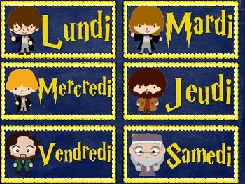 Harry Potter INSPIRED Classroom Calendar in French
