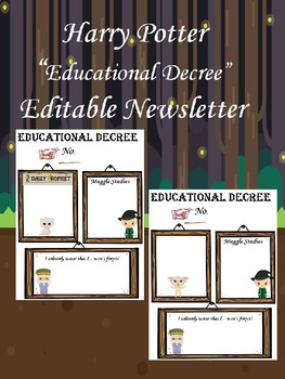 "Harry Potter Insipred ""Educational Decrees"" newsletters"