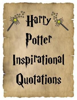 Harry Potter Inspirational Quotes Classroom Decor