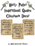 Harry Potter Inspirational Quotes Classroom Decor
