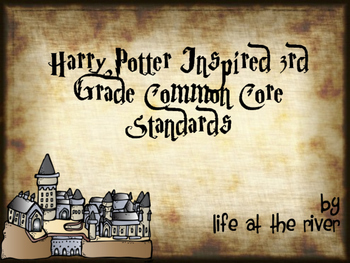 Harry Potter Inspired 3rd Grade Common Core Standards