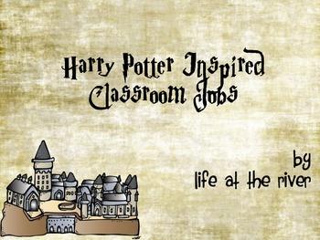 Harry Potter Inspired Classroom Jobs
