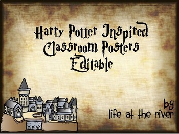 Harry Potter Inspired Classroom Posters