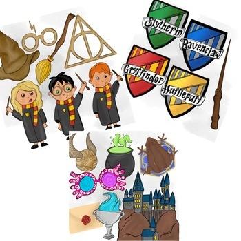 Harry Potter Inspired Clipart by Taracotta Sunrise