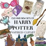 Old and New Harry Potter Inspired Clipart Set by Taracotta Sunrise