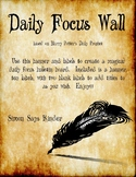 Harry Potter Inspired Daily Focus Wall