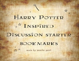 Harry Potter - Inspired Discussion Starter Bookmarks