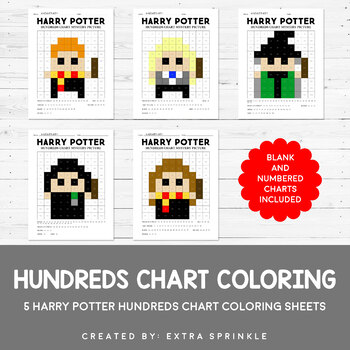 Harry Potter Inspired Hundreds Chart Coloring Pages
