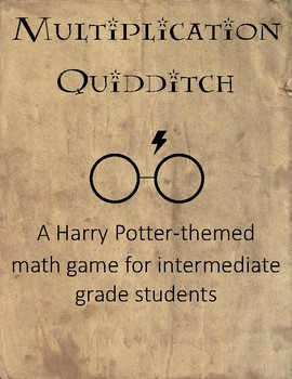 Harry Potter Inspired Multiplication Quidditch FREE