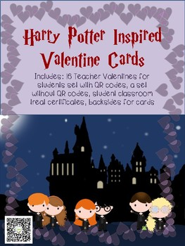Harry Potter Inspired Valentine Cards~QR Code Cards Included!