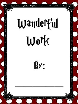 Harry Potter Inspired Wanderful Work Covers