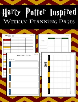 Harry Potter Inspired Weekly Planning Pages