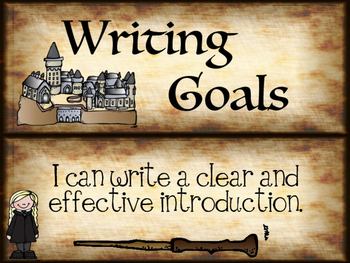 Harry Potter Inspired Writing Goals