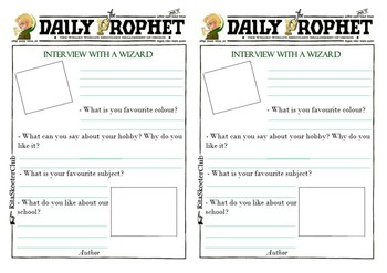 Harry Potter Interview Card
