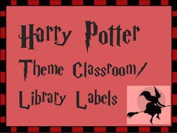 Harry Potter- J.K.Rowling Theme Library and Classroom Labels