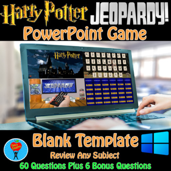 Harry Potter & Jeopardy PowerPoint Game Bundle - 2 Customizable Games